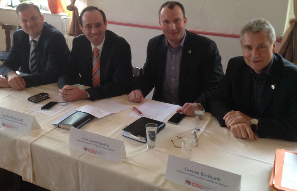 v.l.n.r.Steeven Bretz, Ingo Senftleben, Uwe Liebehenschel, Carsten Bockhardt